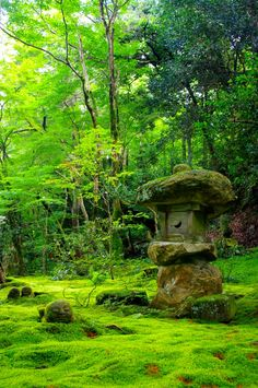 Jardin japon : Moss Garden - Sanzen-in temple in Ohara, Kyoto, Japan Jardim Natural, Foto Nature, Japan Garden, Japanese Landscape, Japanese Gardens, Dream Garden, Beautiful Gardens, Garden Design, Beautiful Places