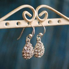 Kate Middleton Inspired Pave Drop Earrings by TheLookingGlassShop, $34.00