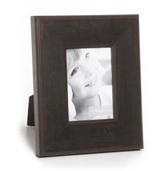 Provence Distressed Wood Wide Black Picture Frame