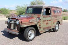 Willys-Custom-Panel-Wagon-Pro-Street-Drag-Race-Classic-Patina-Chevy-V8