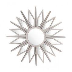 Silver Starburst Mirror Small by World Market Industrial Wall Mirrors, Mantel Mirrors, Wall Mirror With Shelf, Round Wall Mirror, Silver Furniture, Starburst Mirror, Diamond Wall, Silver Stars, Metal Walls
