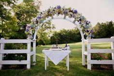 Literary Love :: garden terrace ceremony arch