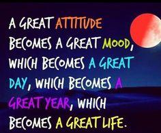 A great attitude. ...