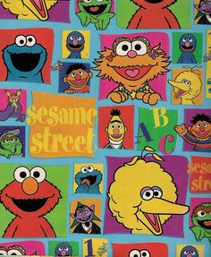 Sesame Street Gang Big Bird Bert Ernie Gift Wrap Flat Wrapping  Paper 2 pack by ilPiccoloGiardino | Party Favors, Decorations and Supplies |...
