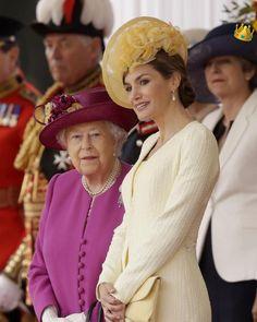 Queen Elizabeth and Queen Letizia