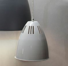 Small Cavendish Vented Pendant Light In Chalk - office & study