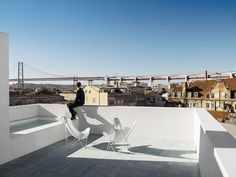 Rooftop Bathtub And Shower / overlooks the city of Lisbon, Portugal / José Adrião Architects / house