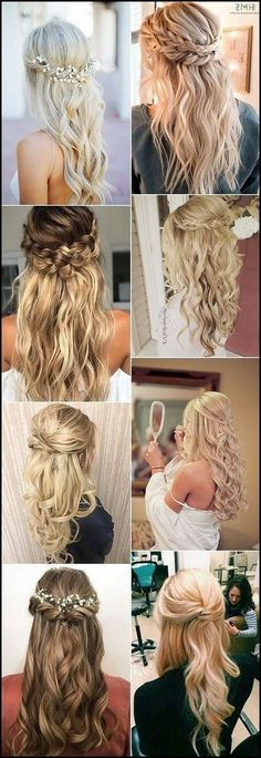 15 Chic Half Up Half Down Wedding Hairstyles for Long Hair ... #bridal #hairstyles #hairstyle