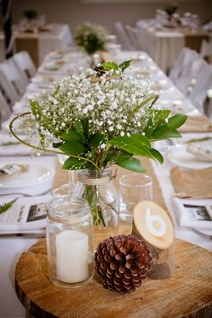 Our Simple Rustic Table Setting - without pinecones