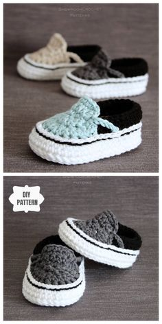 slippers style baby booties results - ImageSearch Crochet Baby Sandals, Crochet Baby Boots, Booties Crochet, Crochet For Boys, Crochet Shoes, Knitted Baby, Free Crochet, Crochet Baby Beanie, Baby Booties Free Pattern
