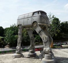 VW Bus AT-AT Imperial Walker. I think my mind was just blown.