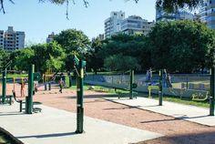 Revitalização praça da Encol. Projeto Fitness ao ar livre: Creare Paisagismo #crearepaisagimo. Implantação e fiscalização: Melnickeven