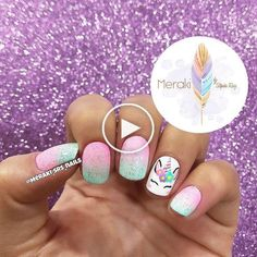 Many people have a passion for unicorn nails. And Unicorn nails are becoming a u… Nails For Kids, Girls Nails, Pink Nails, Glitter Nails, Unicorn Nails Designs, Unicorn Nail Art, Nagel Gel, Super Nails, Trendy Nails