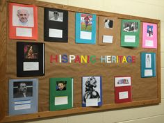 Hispanic heritage month by WHCA students 2016 Elementary Spanish, Spanish Classroom, Spanish Bulletin Boards, Spanish Projects, Hispanic Heritage Month, Students, Display, Spanish Class, Floor Space