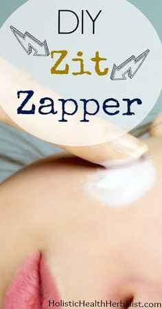 Making a DIY zit zapper is super simple and very effective against pesky pimples and clogged pores. Try this easy recipe to zap em' good!