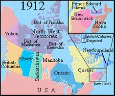 Map of Canada 1912 A Brief Canadian History Canadian Facts, Canadian Things, I Am Canadian, Canadian History, American History, Canada Day Images, Canada 150, Western Canada, World History