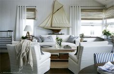 Neutral chic...love the sailboat