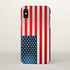 Stars And Stripes iPhone X Case - red gifts color style cyo diy personalize unique