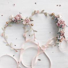 Blush flower crown Mommy and me Blush gold flower crown Baby Flower Crown, Tulle Flower Girl, Flower Crown Wedding, Wedding Hair Flowers, Flowers In Hair, Flower Girl Dresses, Girls Crown, Dusty Rose Dress, Hair Wreaths