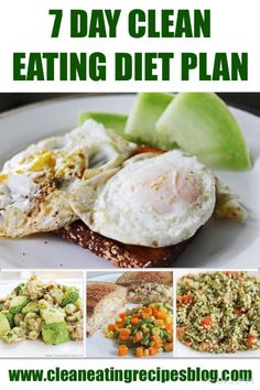 Click pin for next week's clean eating diet plan! #cleaneating