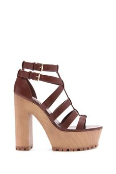 Faux Leather Sandals #stepitup