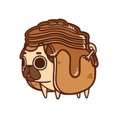 And Suddenly... - bestof-society6:     ART PRINTS BY PUGLIE PUG   ...