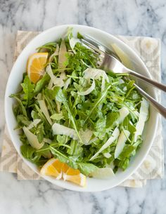 When you need a simple salad to make the meal complete, this tumble of arugula and shaved fennel is all you need. I find the combo of peppery arugula and sweet, crunchy fennel so delightfully addictive — so much so that I'll sometimes eat a big bowlful with just a wedge of toasted baguette and call that dinner. The salad takes seconds to make, even counting the time to shake together the easy vinaigrette of lemon juice and olive oil. Pair it with grilled salmon or serve it alongside an eggy…