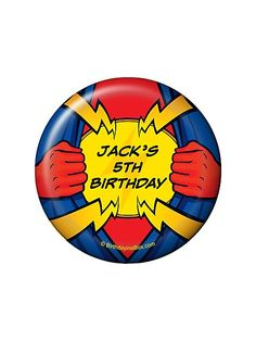 Superhero Party Personalized Magnet