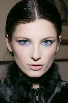 This pretty lavender cat eye look was featured in the Jason Wu 2013 Fall Runway collection
