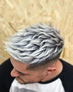 Hair color options for men hair color highlights and ideas for men 30 y blonde hairstyles for men in the 25 best haircuts for men. Mens Hair Colour, Hot Hair Colors, Cool Hair Color, Silver Hair Men, Silver Blonde, Dyed Hair Men, Dye Hair, Men Blonde Hair, Hair Dye Tips
