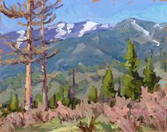 'Two Larches' ipad sketch  Posted by benhaggett on May 5, 2013