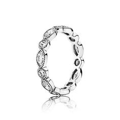 Putting a new spin on the classic eternity style, this stunning ring in sterling silver alternates marquise-cut and brilliant-cut stones; lending a fascinating geometric quality to the design. #PANDORA #PANDORAring