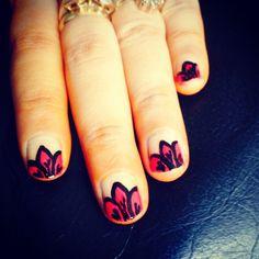 Petals nail art