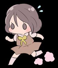 little cute girl Momo - LINE Creators' Stickers