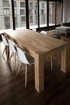 Oak table by Marta Niedbalec, via Behance