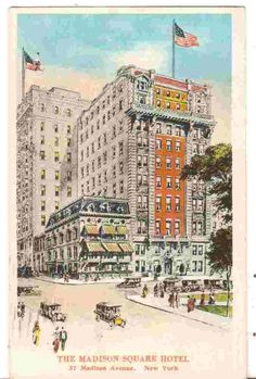1920 Postmarked Postcard The Madison Square Hotel New York NY