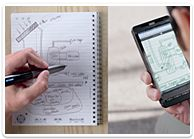 The new Sky Smartpen by Livescribe.  http://www.livescribe.com/en-us/#