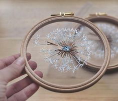 Make a Wish Dandelion Tulle Embroidery Hoop Art - Bridesmaid, Housewarming Gift - OOAK Home Wall Art Decor- Hand Embroidery by Velvet Meadow - Delicate one-of-a-kind hand embroidered hoop Make a Wish for dreamers who believe in little magical - Wooden Embroidery Hoops, Embroidery Hoop Art, Hand Embroidery Patterns, Cross Stitch Embroidery, Embroidery Designs, Flower Embroidery, Embroidery Digitizing, Tambour Embroidery, Embroidery Supplies