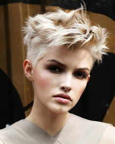 A Short Blonde hairstyle From the Graffiti Collection by Hooker & Young