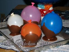 Chocolate balloon bowls just seen this on kirstie allsops programme n they look fab