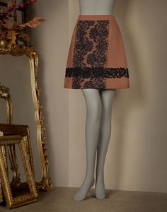 MINI SKIRT WITH LACE DETAILS - Knee length skirts - Dolce&Gabbana - Winter 2015