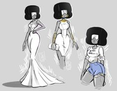 Been itching to draw Garnet in white for a while. Wanted to get these posted before the su fandom explodes due to a certain upcoming bomb. Universe Love, Steven Universe Gem, Universe Art, Du Dudu E Edu, Chica Anime Manga, Drawing Reference Poses, Homestuck, Looks Cool, Cartoon Network