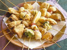 Recetas Japonesas en español!: Kushiage - Empanado de carne y pescado