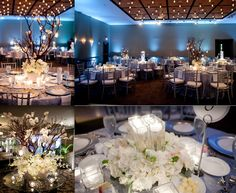 White florals & blue mood lighting