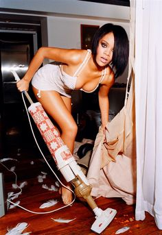 stay at home mom  Yup, that's exactly how I look when I clean! Haha...probably in Hubby's dreams!