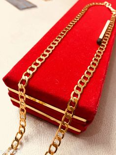 Checkout this latest Chains Product Name: *Trendy Brass Chain* Country of Origin: India Easy Returns Available In Case Of Any Issue   Catalog Rating: ★4.1 (128)  Catalog Name: Femme Gold Plated Brass Chains Vol 1 CatalogID_48031 C65-SC1227 Code: 491-442433-153