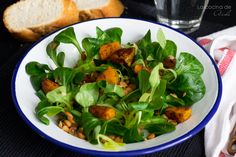 Warm letil salad with pumpkin and leek