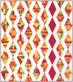 Facets designed by Christa Watson. Features #KonaCotton. Fat quarter friendly! #rkjuly15 #konadesignerseries