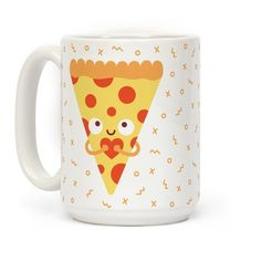 This cute pizza pun design features an illustration of a cute pizza slice holding his heart for you! Perfect for pizza lovers, food fanatics, and people who love cute food with faces. You would do just about anything for pizza, and pizza would do just about anything for you!