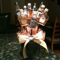 What man wants flowers for valentines day? Give him a liquor bouquet instead!